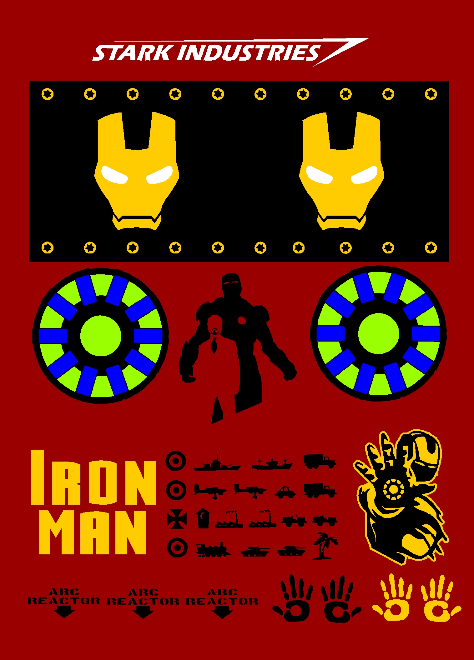 Iron man design of der red max