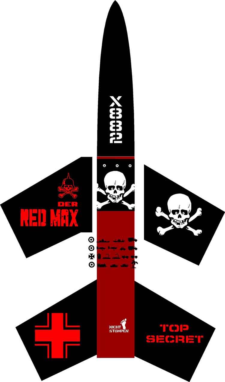 Der Red Max AMW - Stickershock23.com