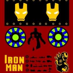 Iron man design of der red max